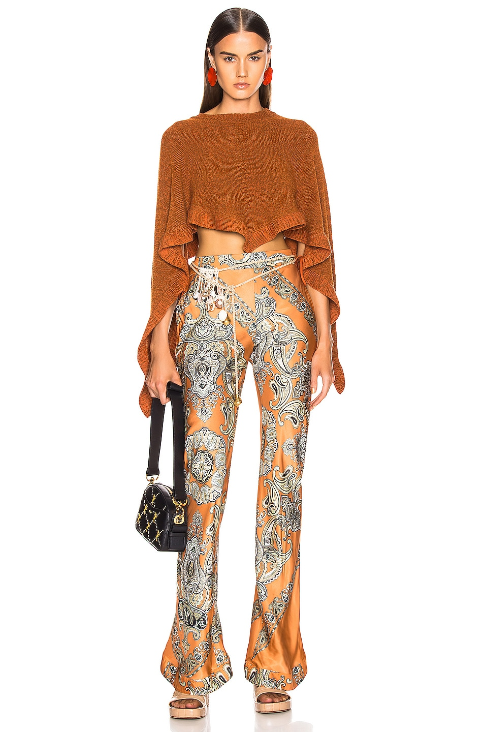 Image 4 of Chloe Persian Print Pant in Sienna Brown