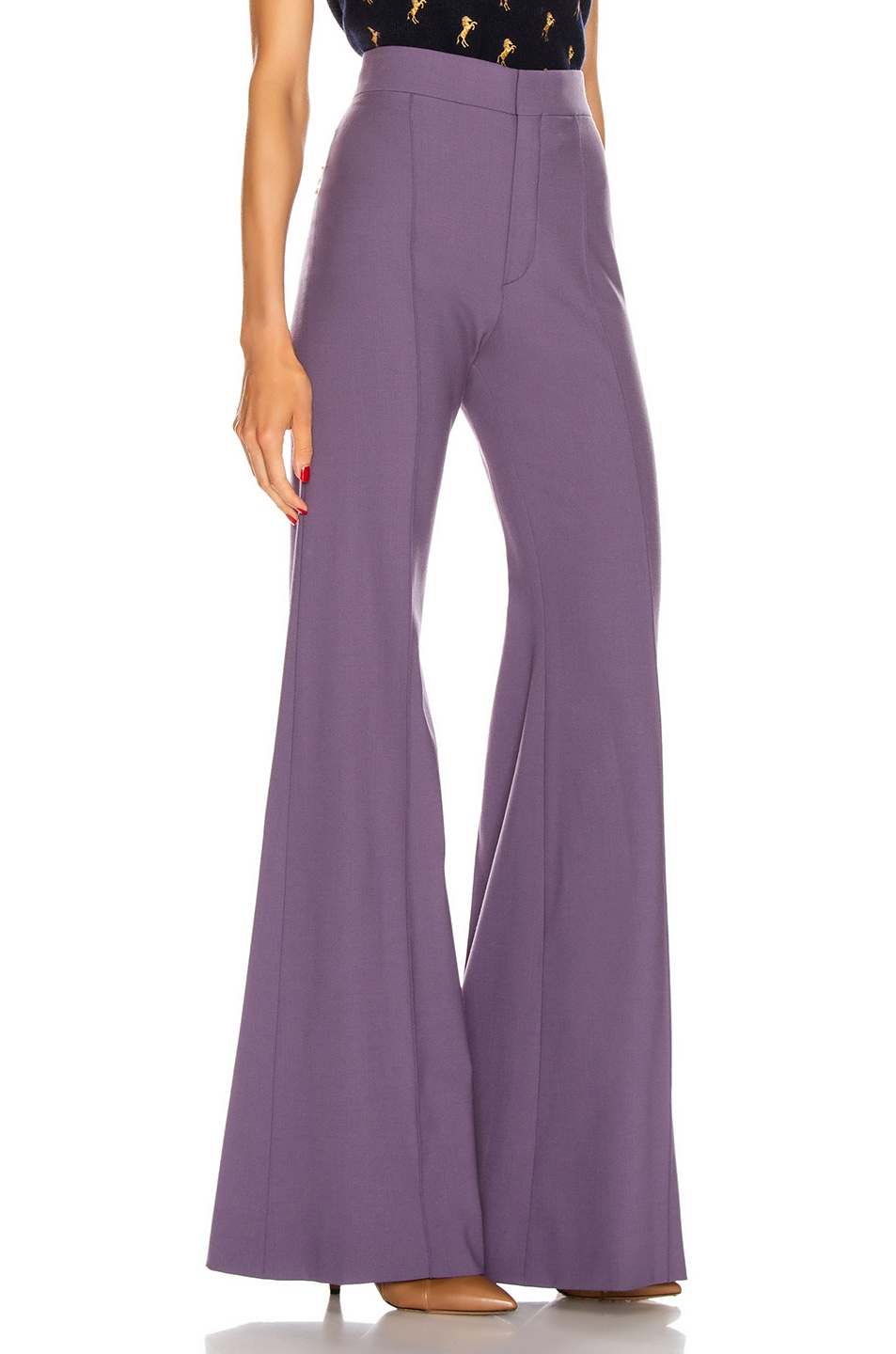 Image 2 of Chloe Tailored Flare Pant in Shadow Purple