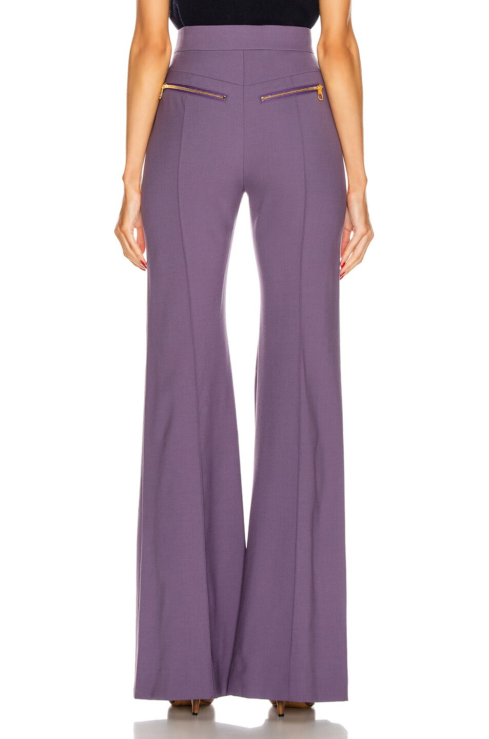 Image 3 of Chloe Tailored Flare Pant in Shadow Purple