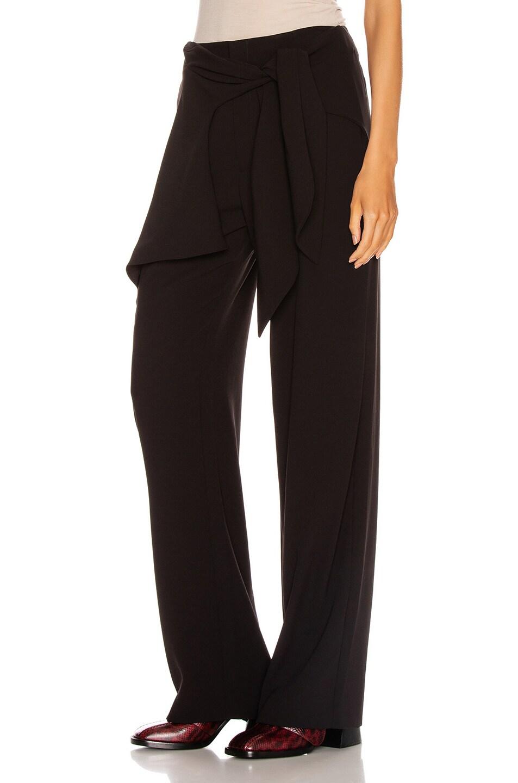 Image 3 of Chloe Tie Pant in Black