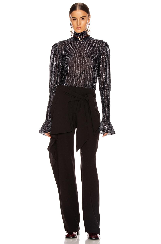 Image 5 of Chloe Tie Pant in Black