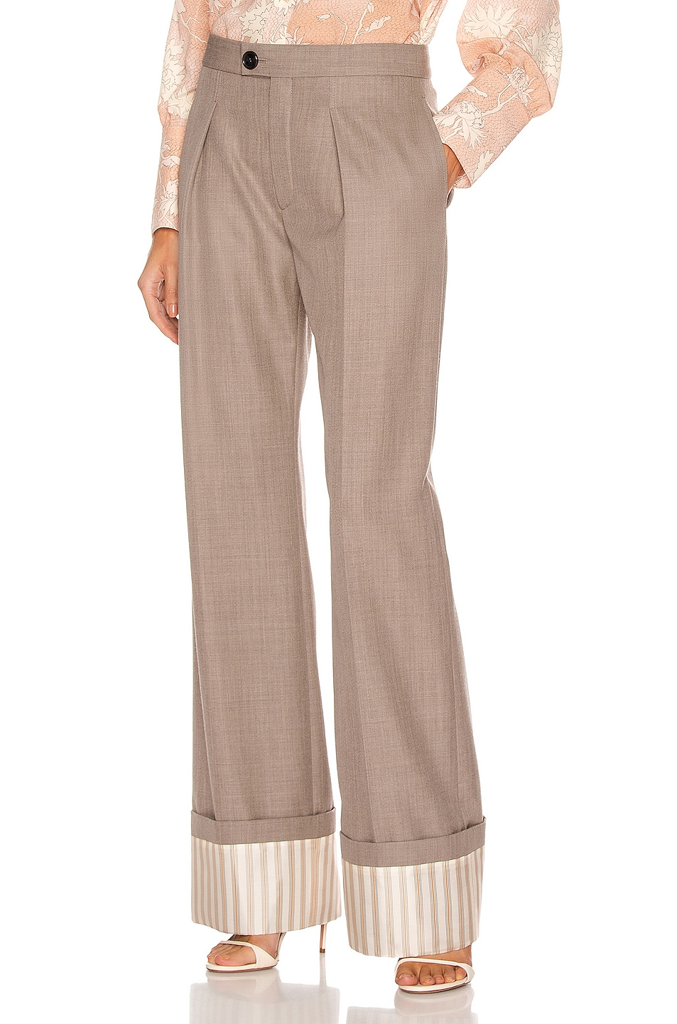 Image 1 of Chloe Tailored Pant in Sooty Khaki