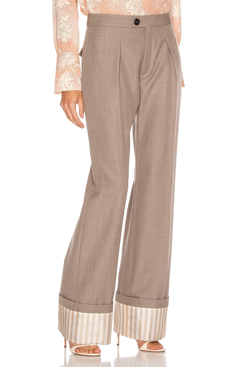 Image 2 of Chloe Tailored Pant in Sooty Khaki