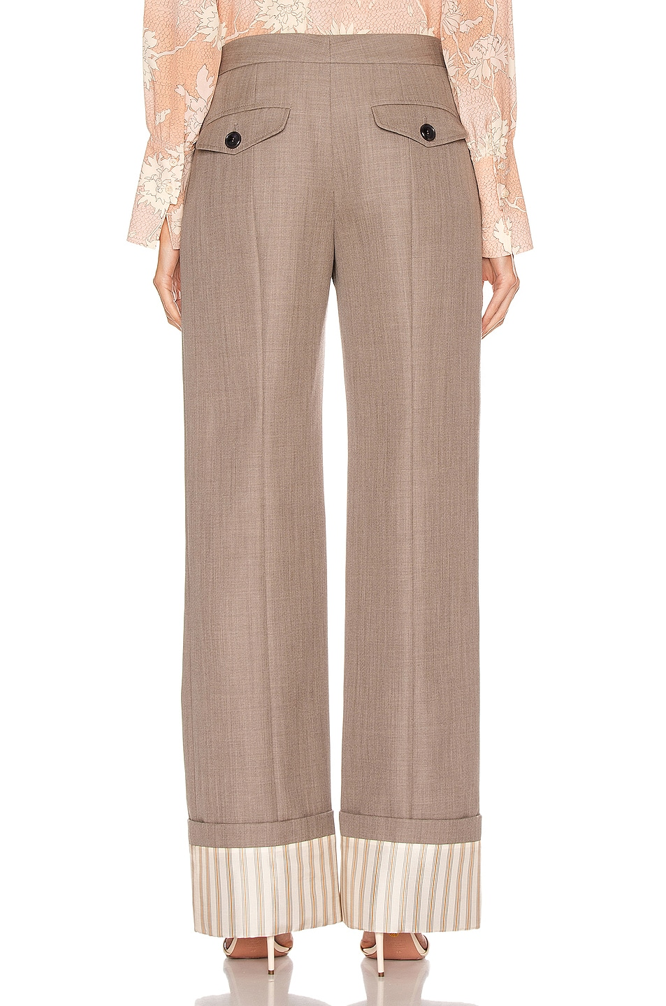 Image 3 of Chloe Tailored Pant in Sooty Khaki
