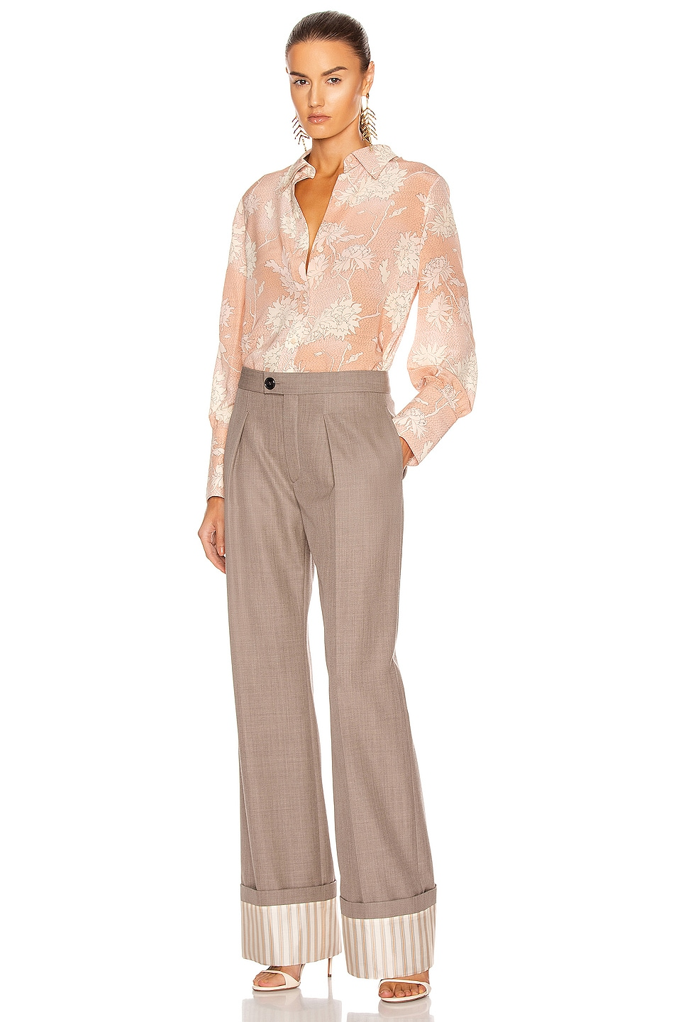 Image 4 of Chloe Tailored Pant in Sooty Khaki