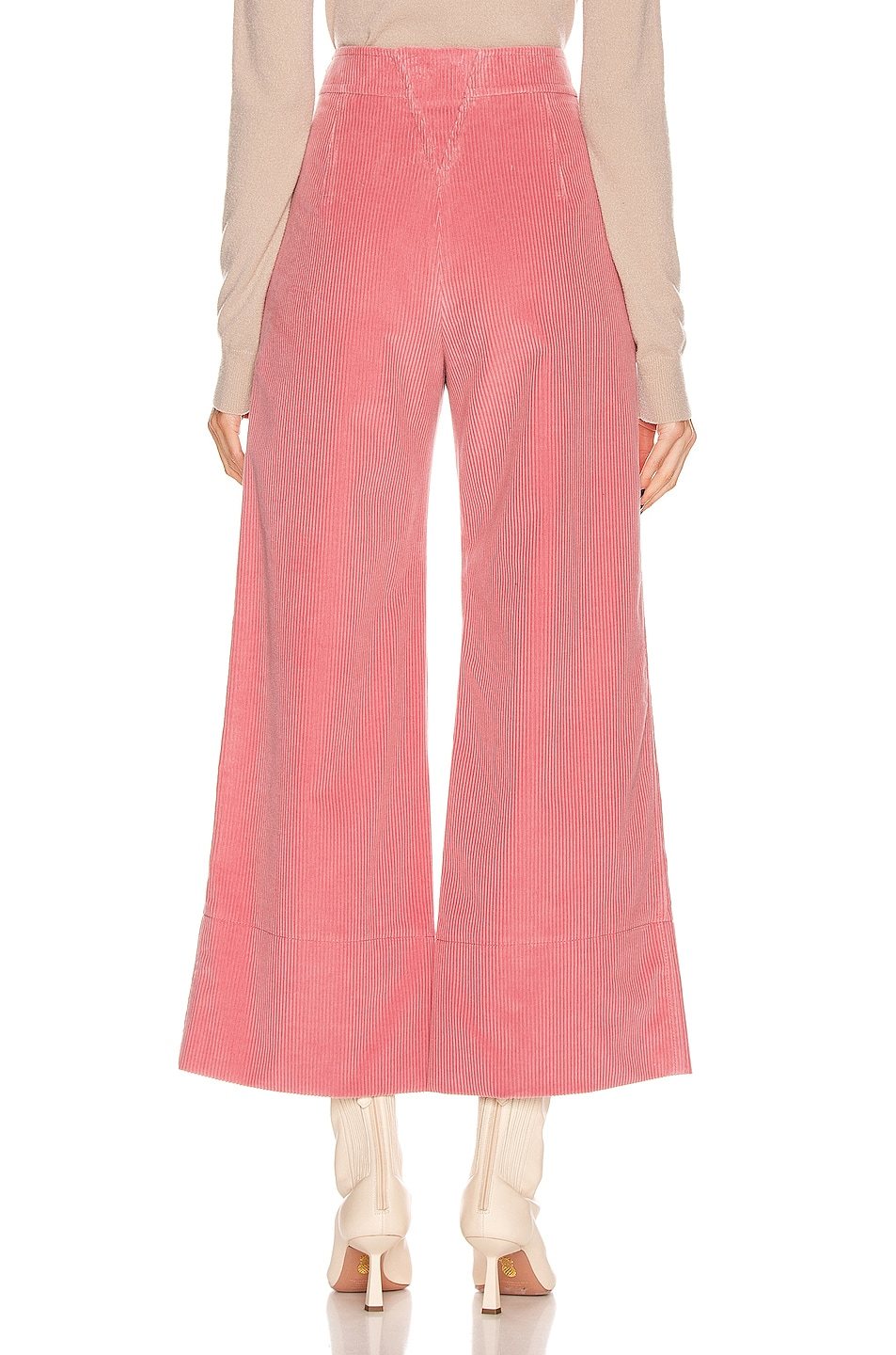 Image 4 of Chloe Crop Button Pant in Burnt Rose