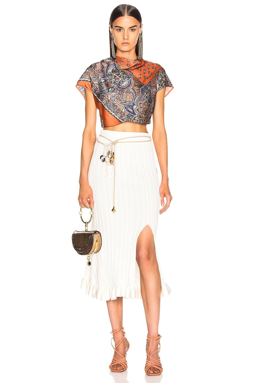 Image 5 of Chloe Ruffle Midi Skirt in Dusty White