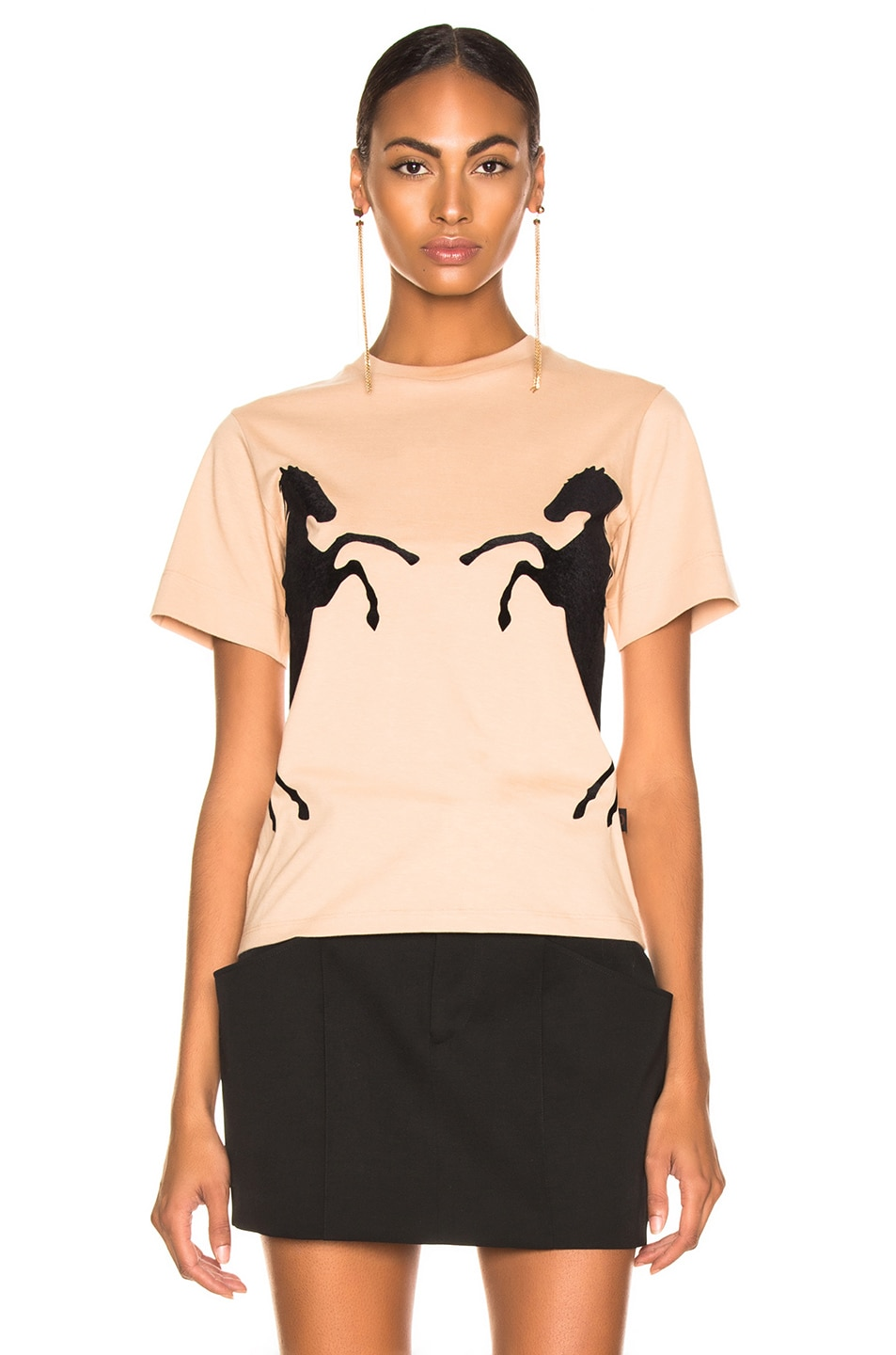 85%OFF Chloe Horse Graphic Tee Sandy Beige