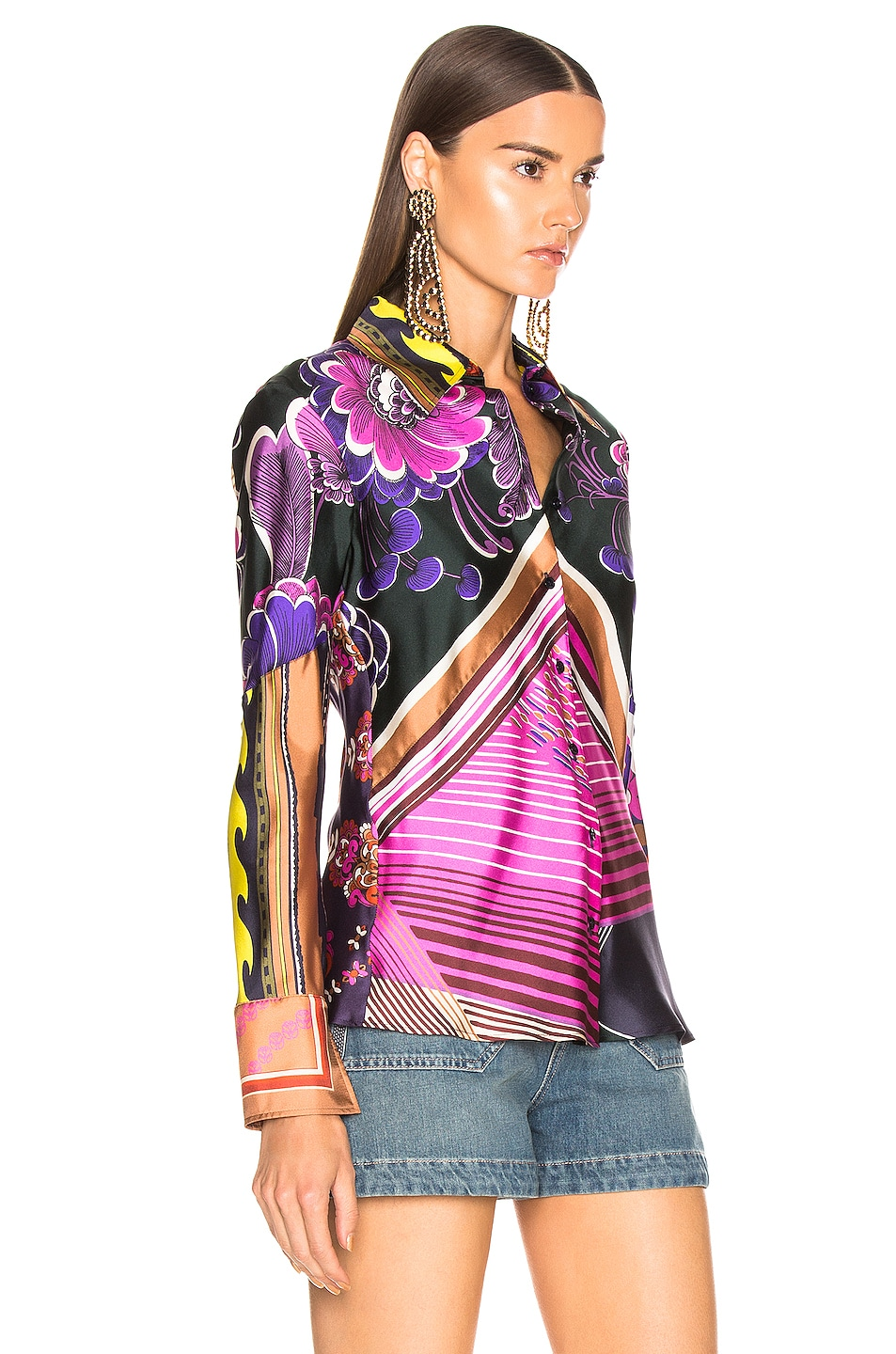 Image 2 of Chloe Caravane Print Top in Multicolor Pink