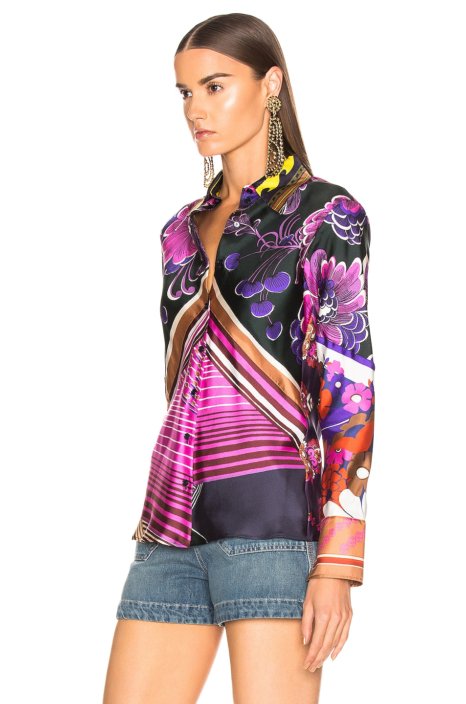 Image 3 of Chloe Caravane Print Top in Multicolor Pink