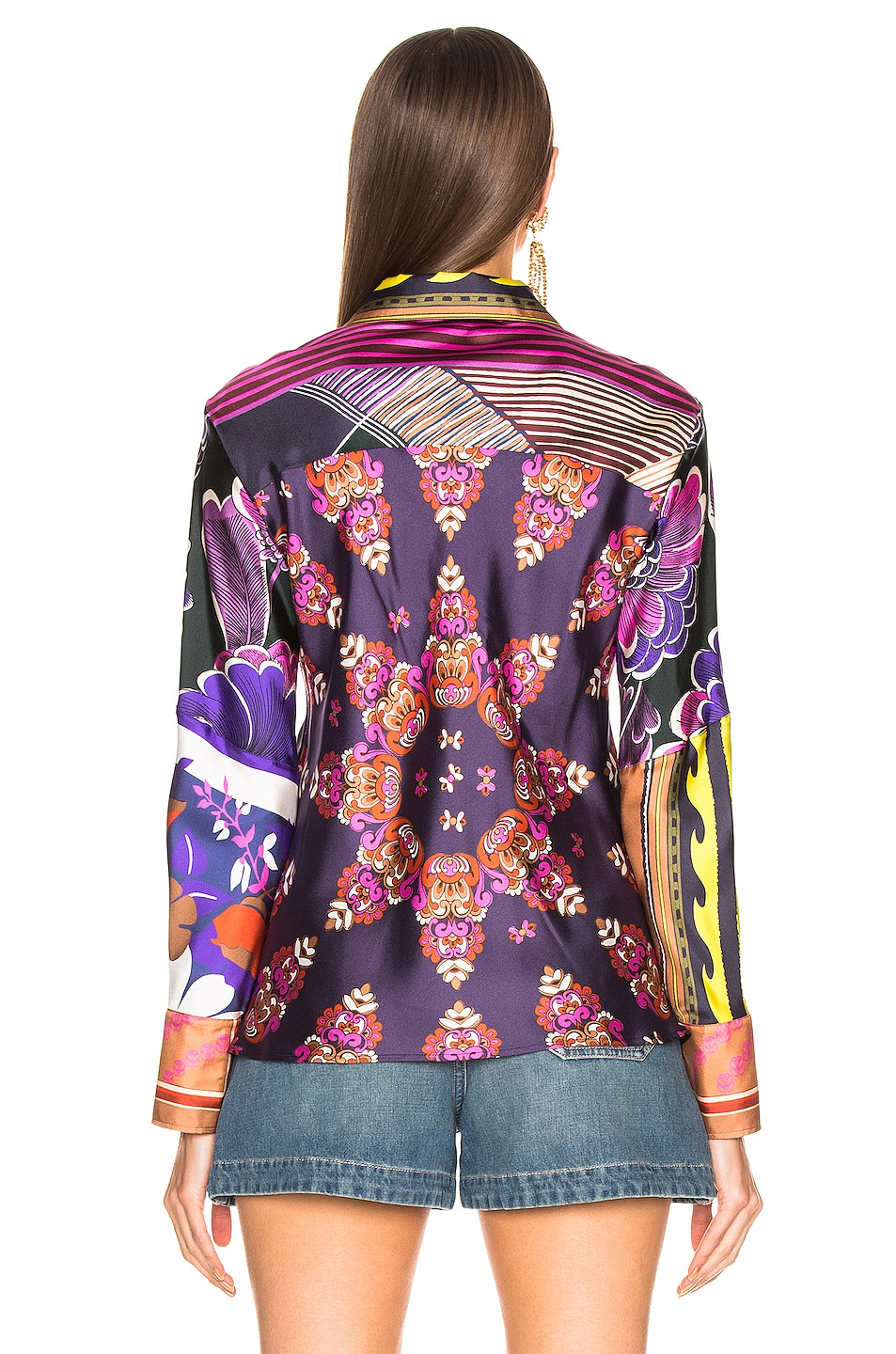Image 4 of Chloe Caravane Print Top in Multicolor Pink