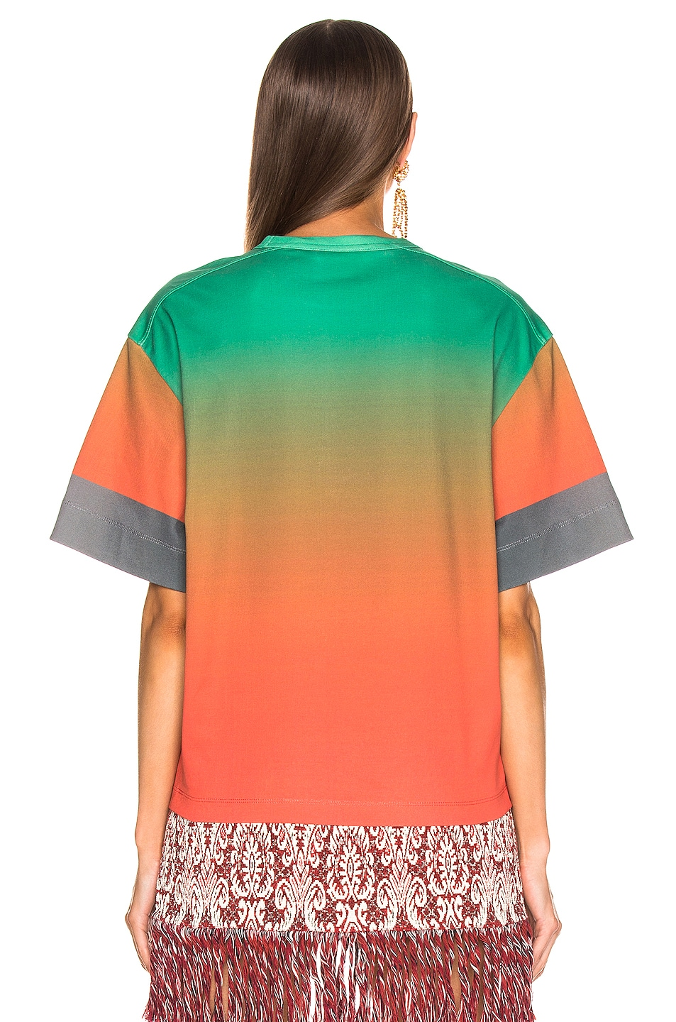 Image 4 of Chloe Logo Color Top in Green & Red