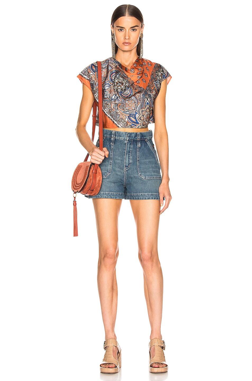 Image 4 of Chloe Persian Print Top in Sienna Brown