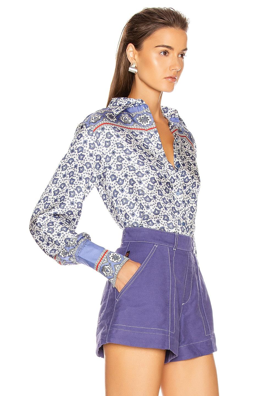 Image 2 of Chloe Bandana Print Blouse in Blue & White
