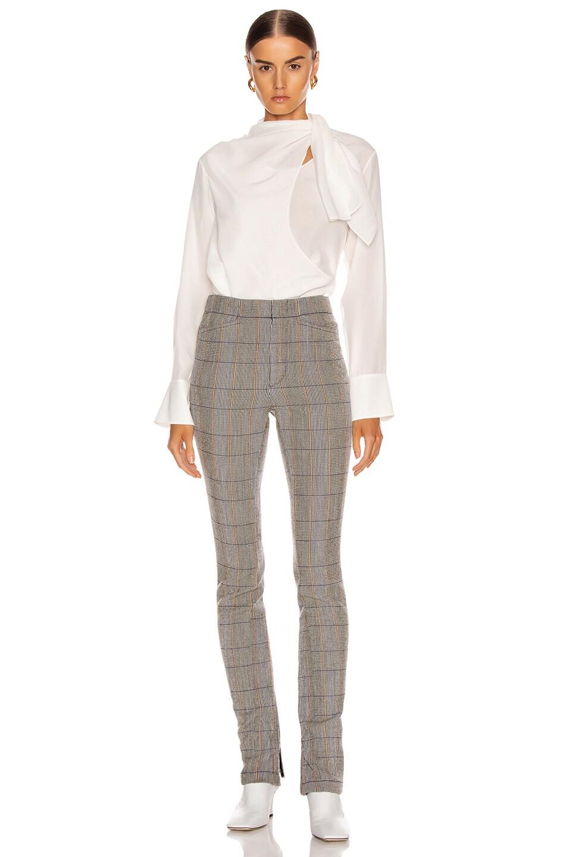 Image 6 of Chloe Long Sleeve Tie Top in Iconic Milk