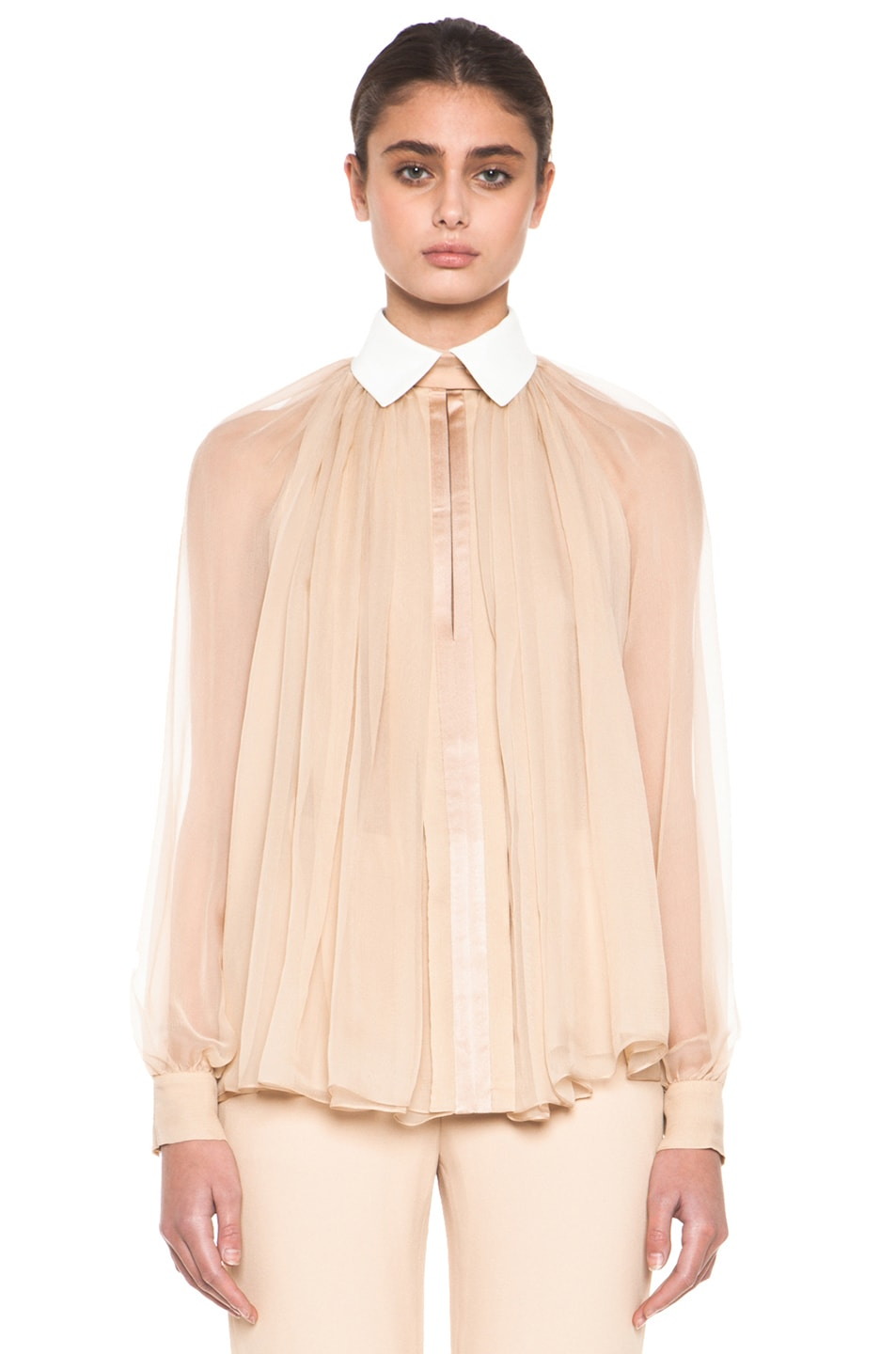 Navy Bow Blouse Chloé Very Cheap Outlet Best Prices Footaction Cheap Price Discount Best Seller F687GwCza