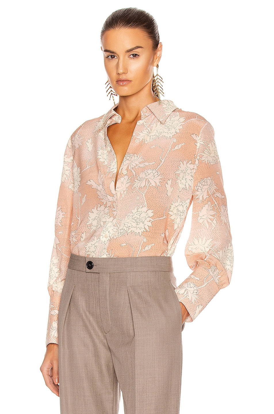 Image 1 of Chloe Floral Blouse in Cloudy Rose