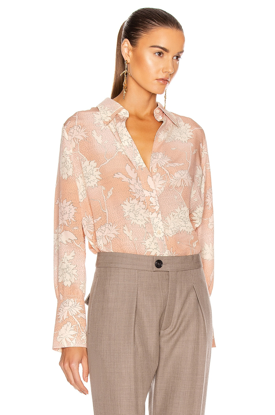 Image 2 of Chloe Floral Blouse in Cloudy Rose