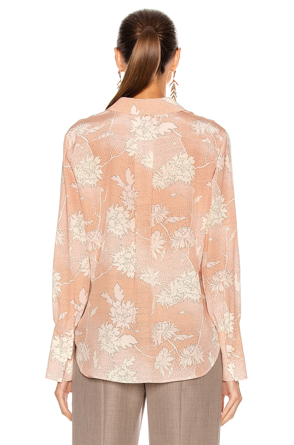 Image 3 of Chloe Floral Blouse in Cloudy Rose