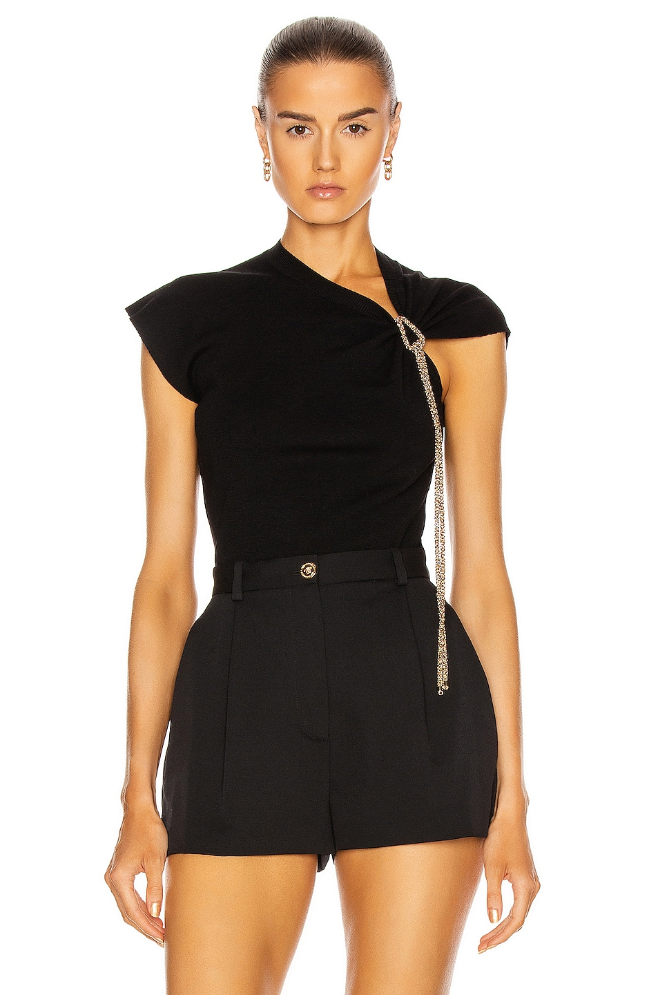 Image 1 of Chloe Sleeveless Knot Top in Black