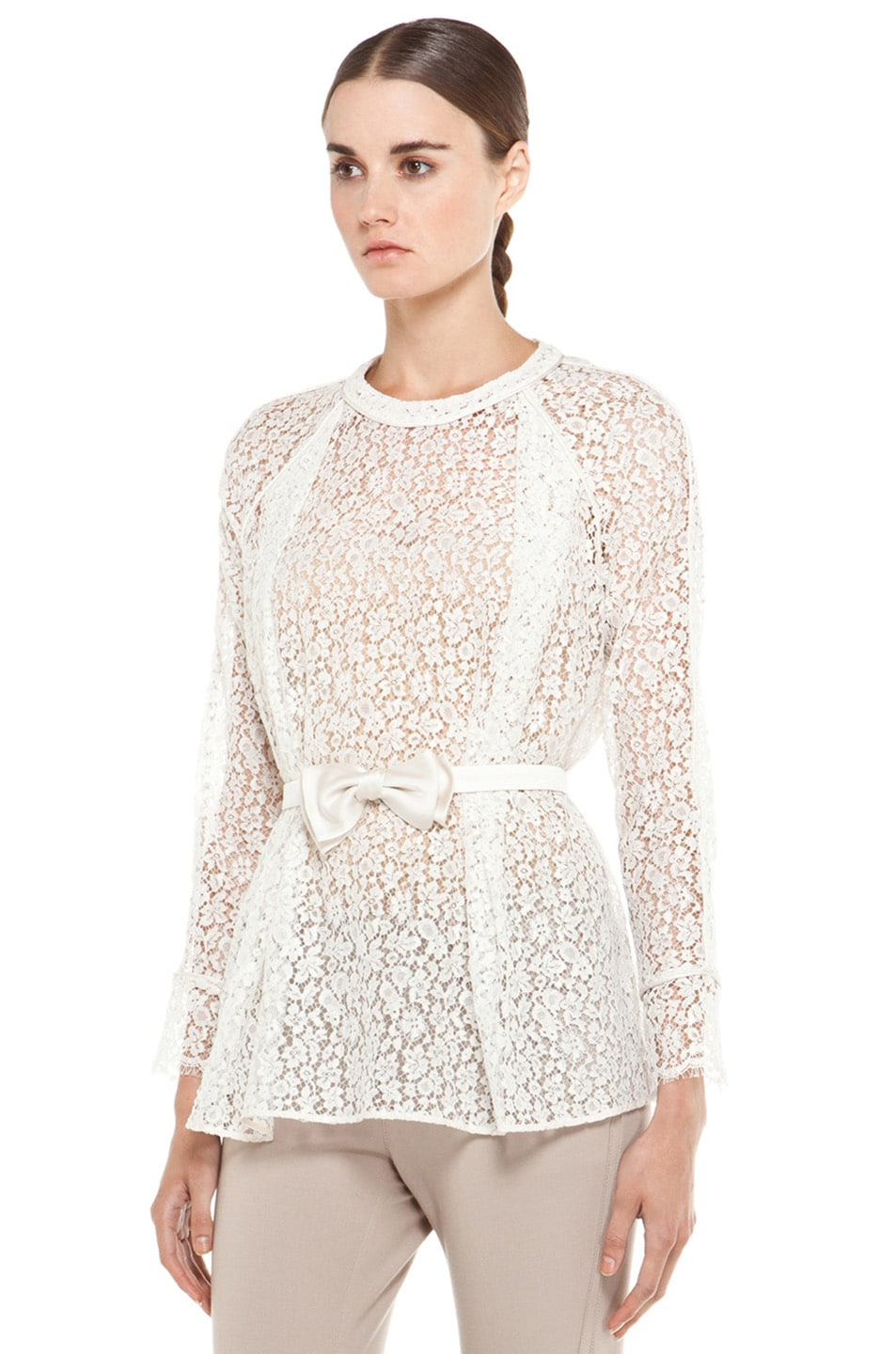 Image 2 of Chloe Belted Blouse in White