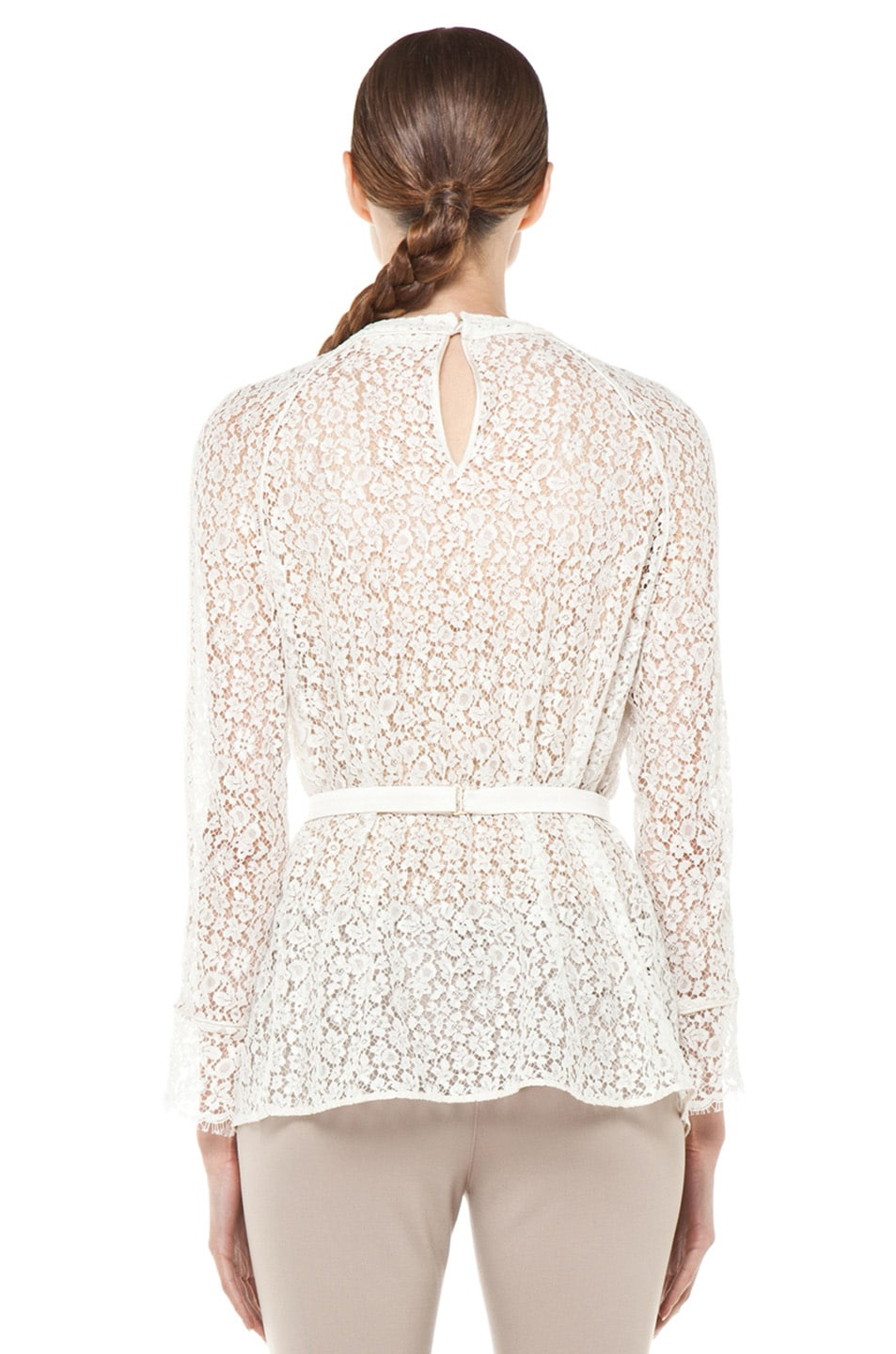 Image 4 of Chloe Belted Blouse in White