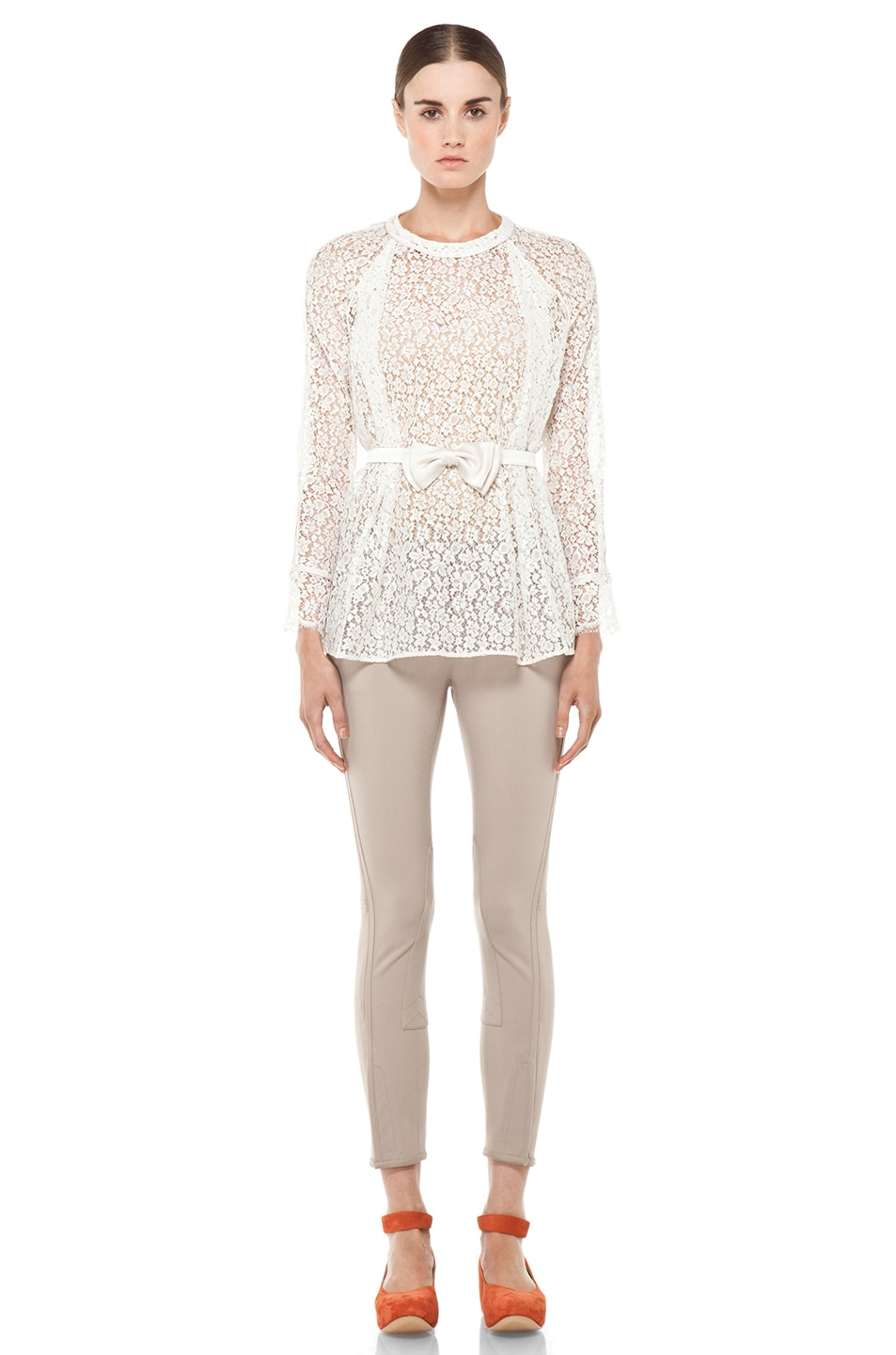 Image 5 of Chloe Belted Blouse in White