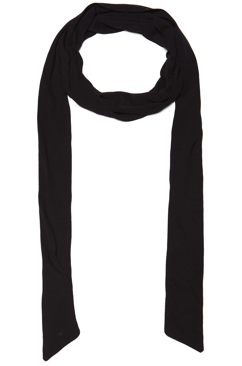 Image 1 of Chloe Drapy Jersey Scarf in Black