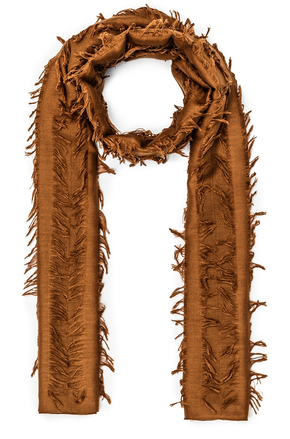 Image 1 of Chloe Fil Coupe Stripe Scarf in Dark Mustard