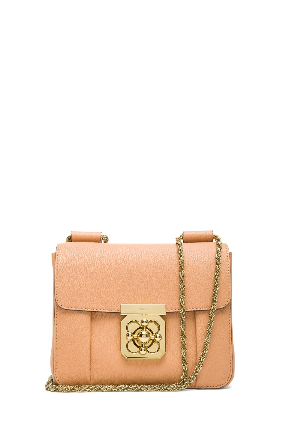 Image 1 of Chloe Small Elsie Shoulder Bag in Rose Milk