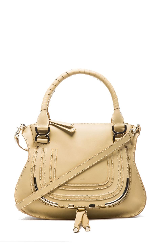 Image 1 of Chloe Medium Marcie Shoulder Bag in Biscotti Beige