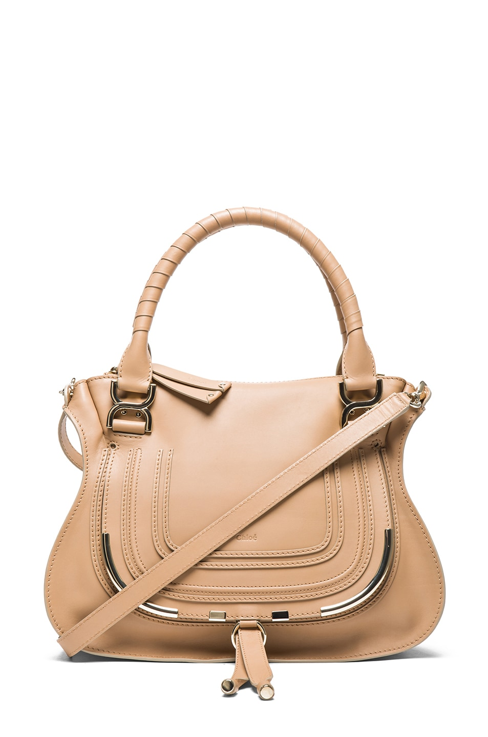 cb28891305784 Image 1 of Chloe Medium Marcie Shoulder Bag in Wet Sand