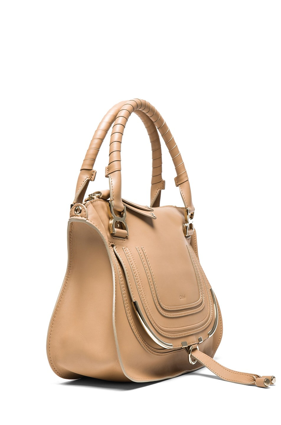 35f201b271eff Image 3 of Chloe Medium Marcie Shoulder Bag in Wet Sand