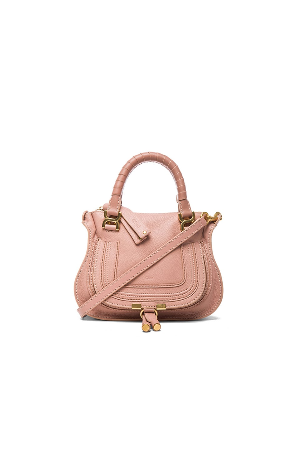 Image 1 of Chloe Mini Marcie Bag in Anemone Pink