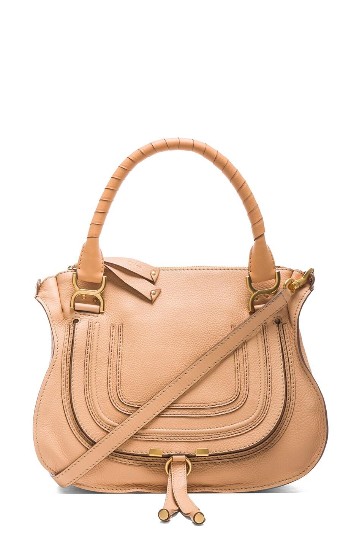 Image 1 of Chloe Medium Marcie Shoulder Bag in Blond Chestnut