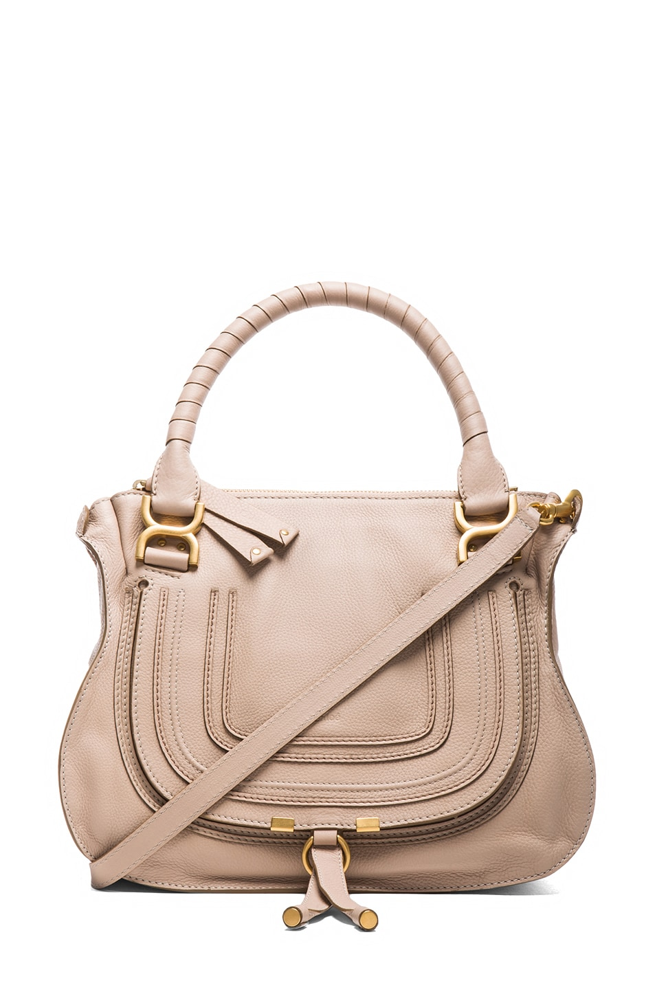 Image 1 of Chloe Medium Marcie Shoulder Bag in Rope Beige