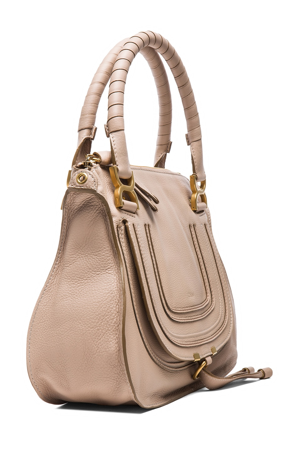 Image 3 of Chloe Medium Marcie Shoulder Bag in Rope Beige