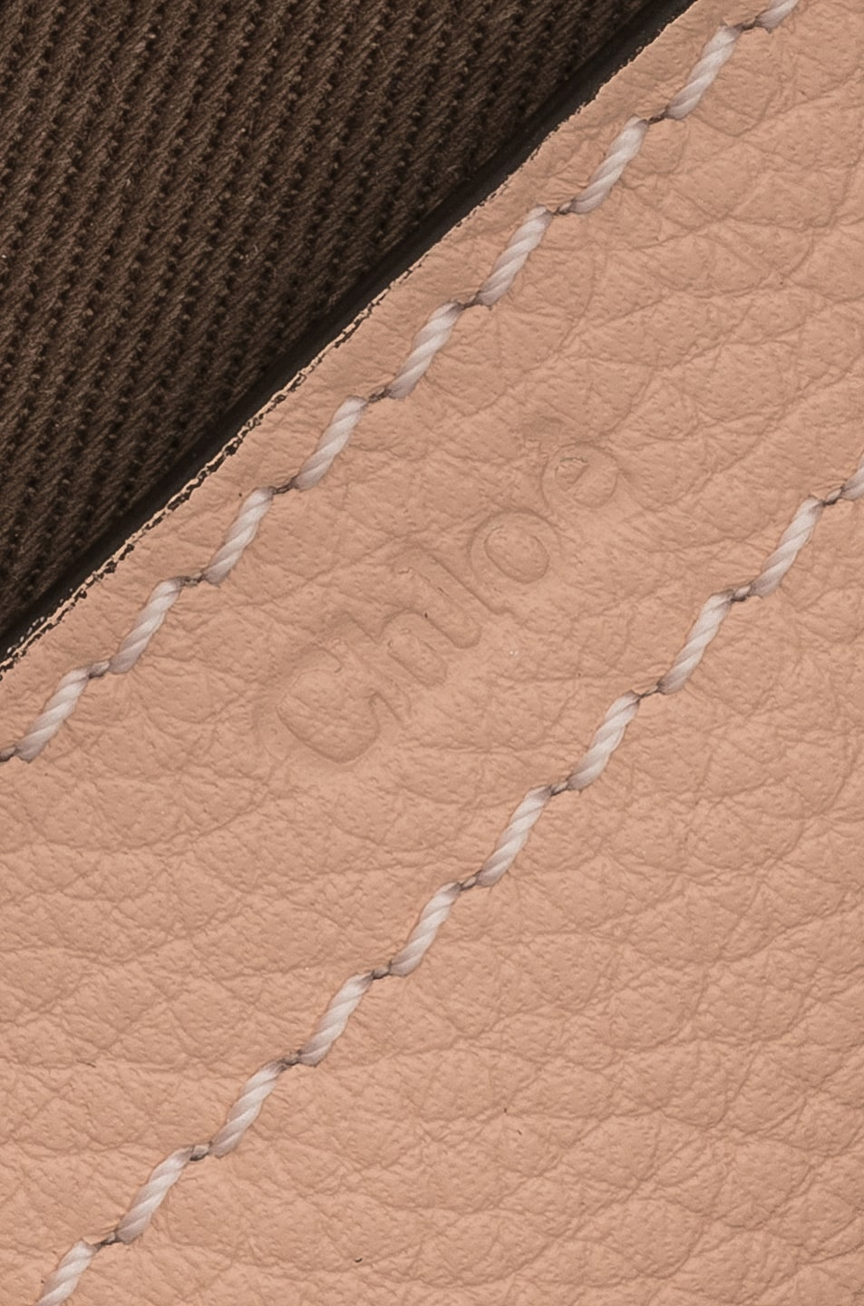 Image 7 of Chloe Small Marcie Grained Calfskin Saddle Bag in Blush Nude