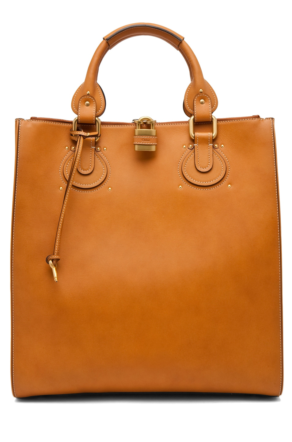 Image 1 of Chloe Aurore Tote in Caramel