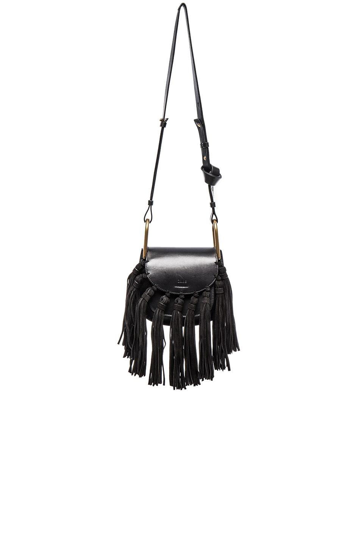 Image 1 of Chloe Mini Hudson Braided Leather & Suede Bag in Black
