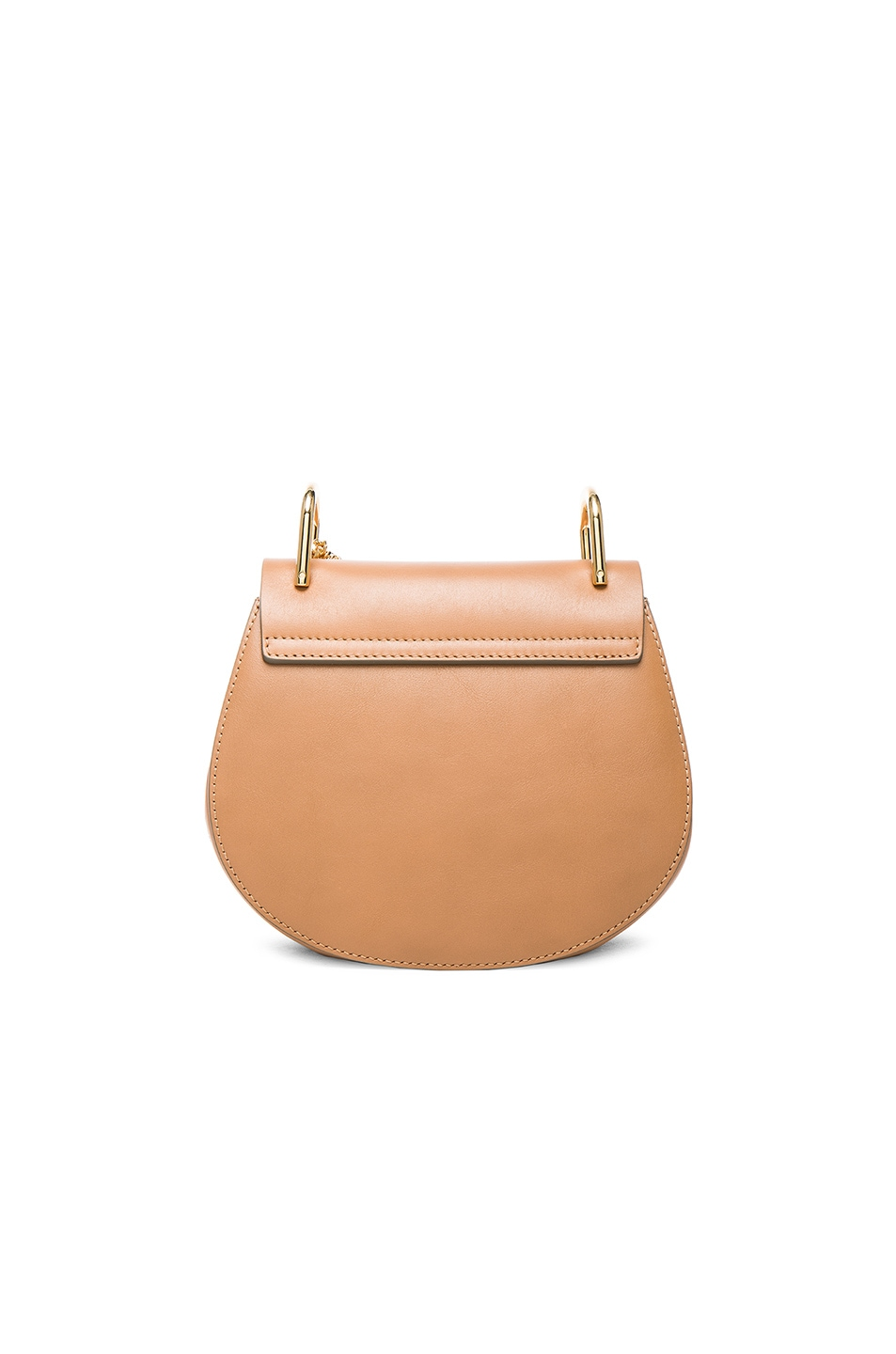 Image 3 of Chloe Mini Drew Leather & Suede Bag in Milky Coffee