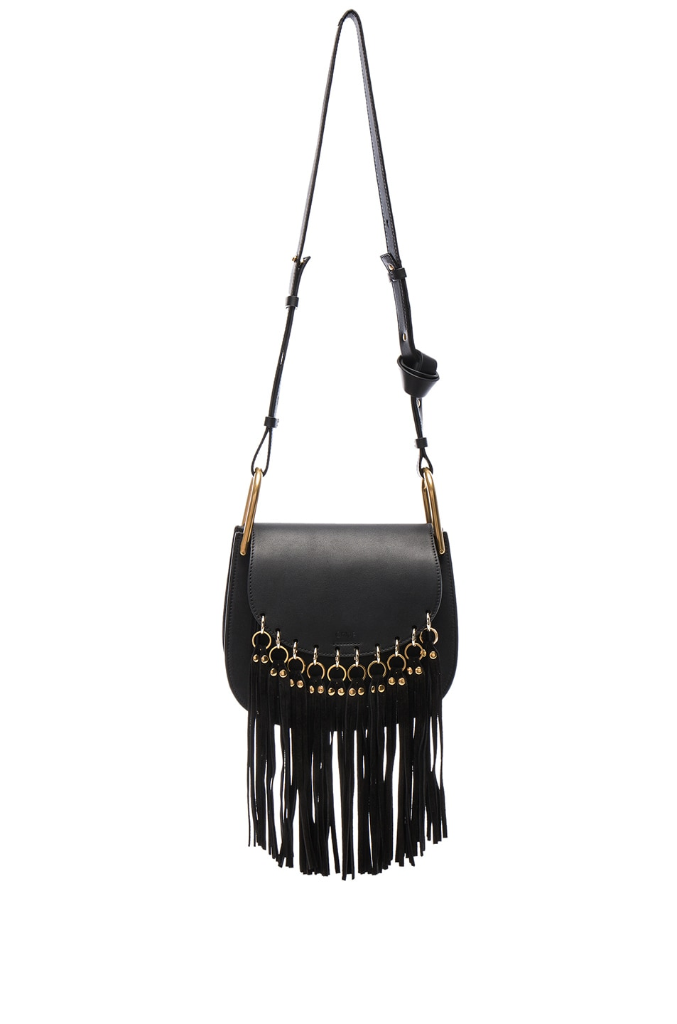 ebd494bdae Image 1 of Chloe Small Hudson Fringe Bag in Black