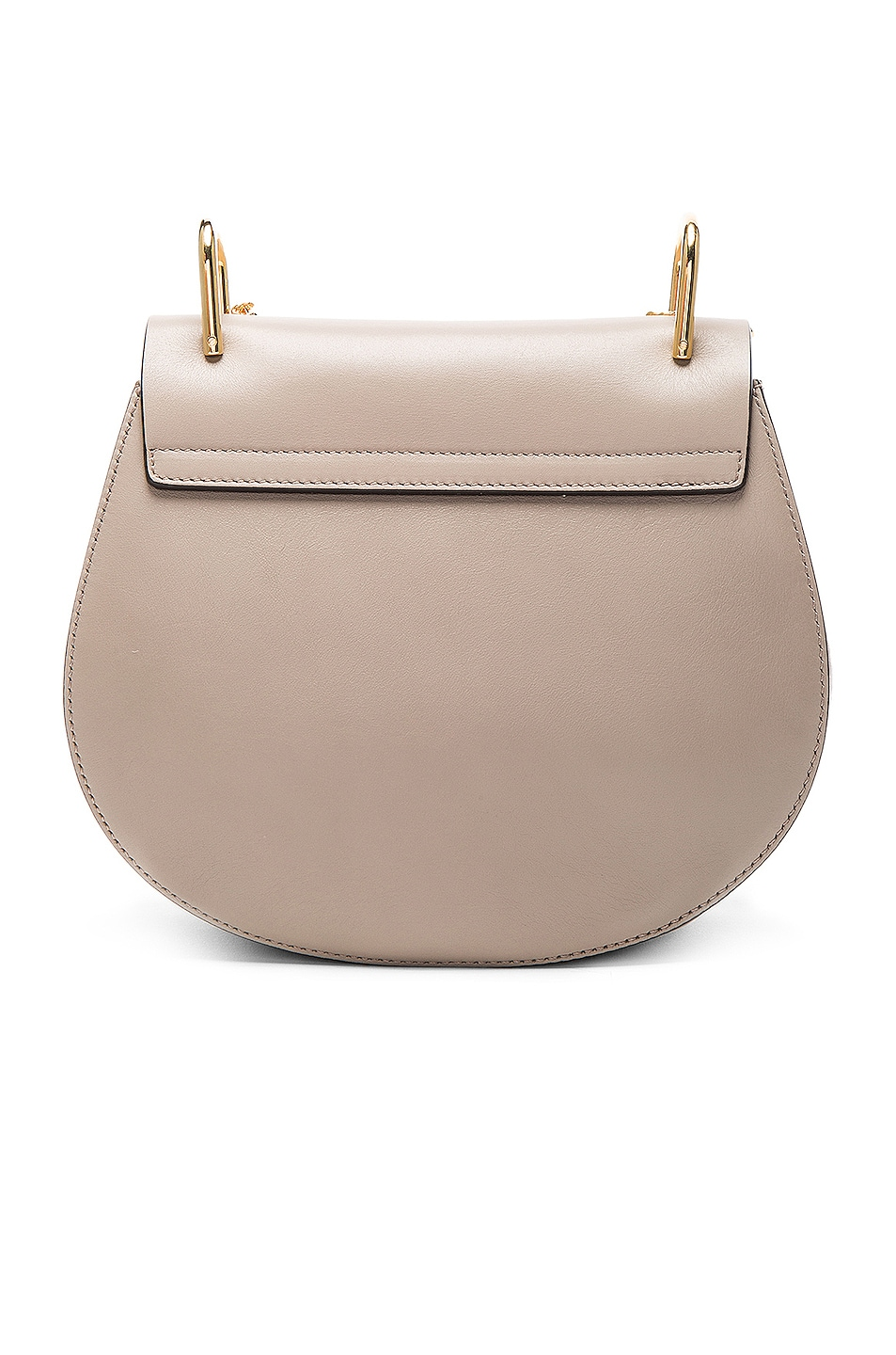 Image 3 of Chloe Small Drew Suede & Calfskin Shoulder Bag in Motty Grey