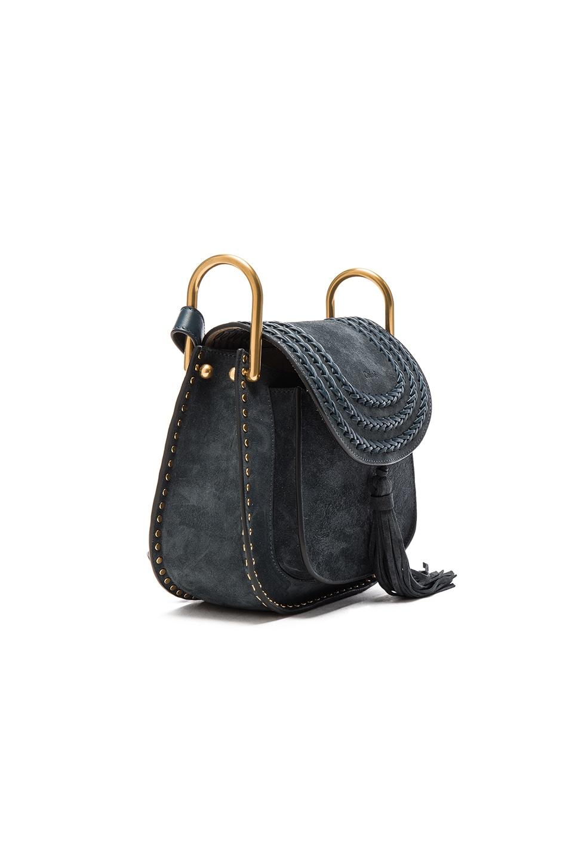 7e25d54f5f Chloe Small Suede Hudson Bag in Silver Blue | FWRD