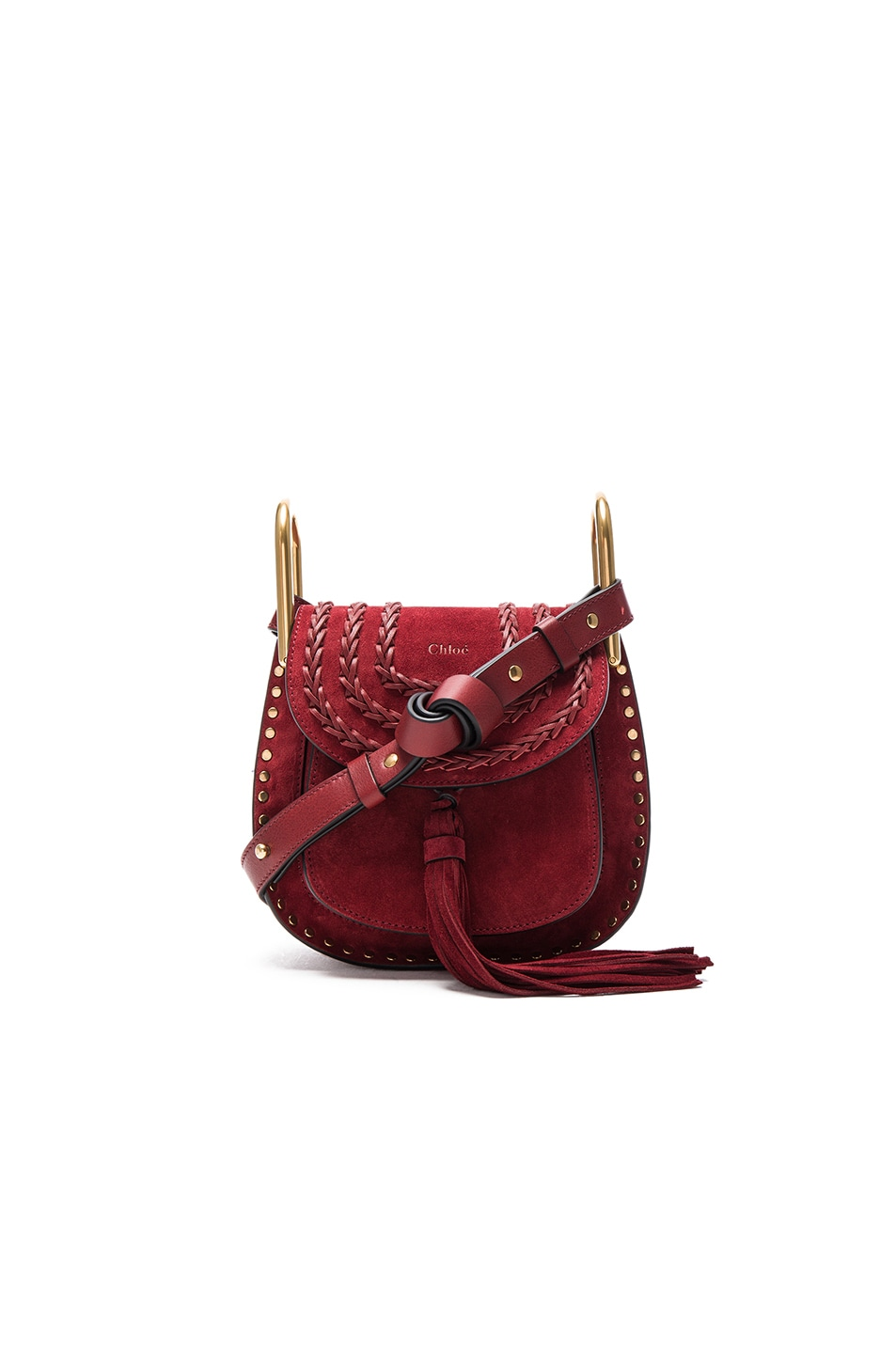 acc1267e Chloe Mini Hudson Suede Bag in Sienna Red | FWRD