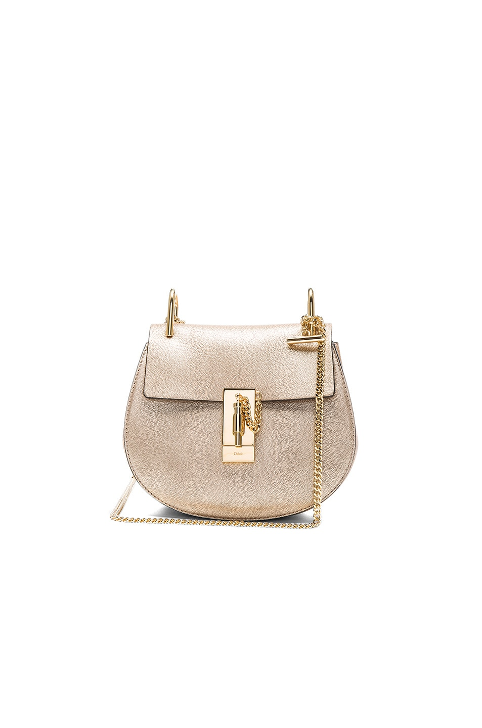 2373259f85 Chloe Mini Laminate Drew Bag in Abstract Gold | FWRD