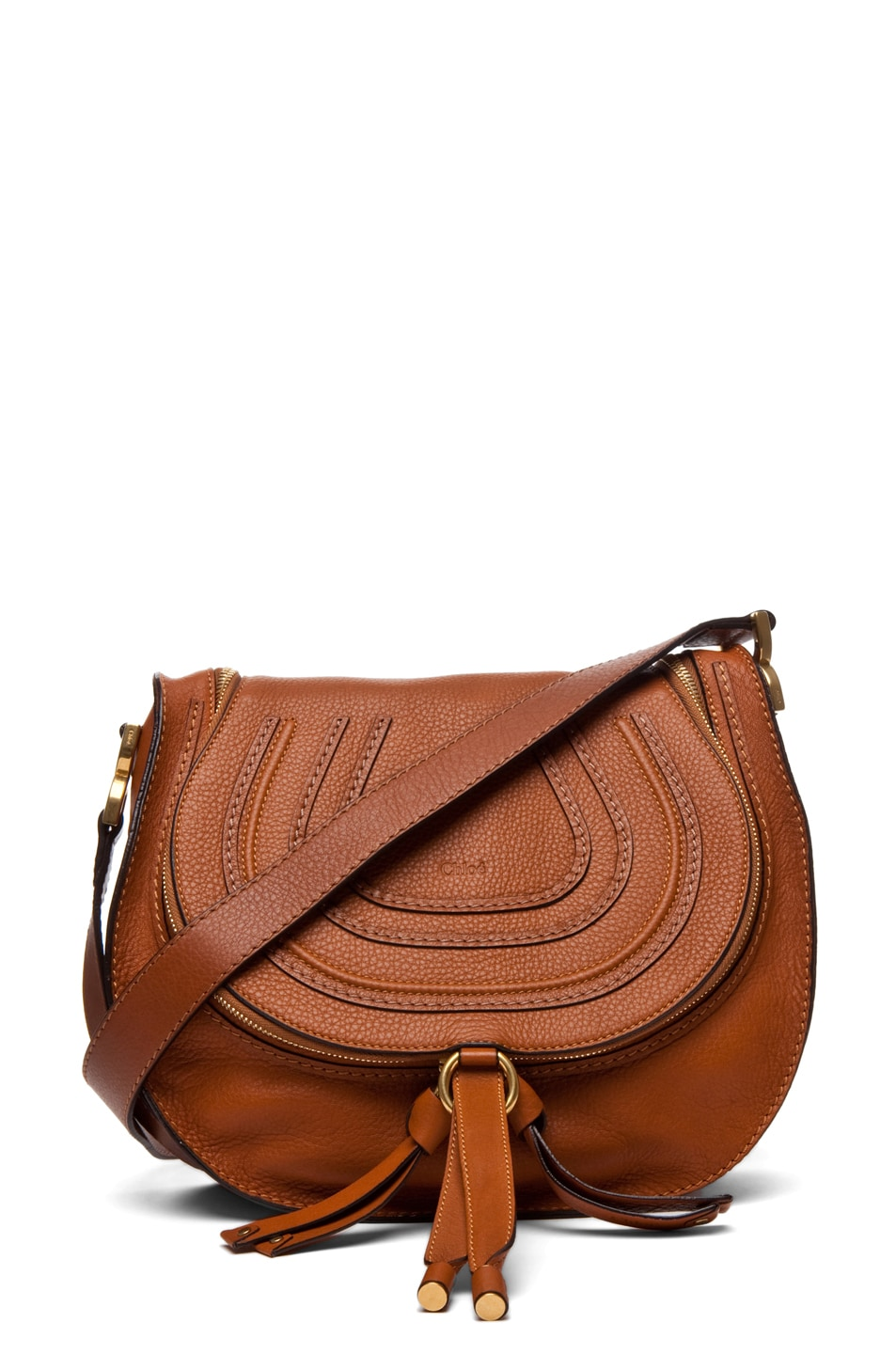 Image 1 of Chloe Marcie Crossbody in Tan