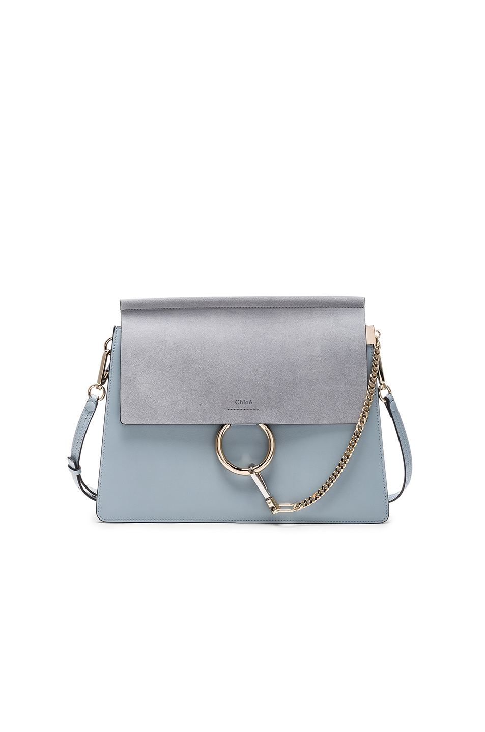 Image 1 of Chloe Medium Leather Faye Bag in Fresh Blue