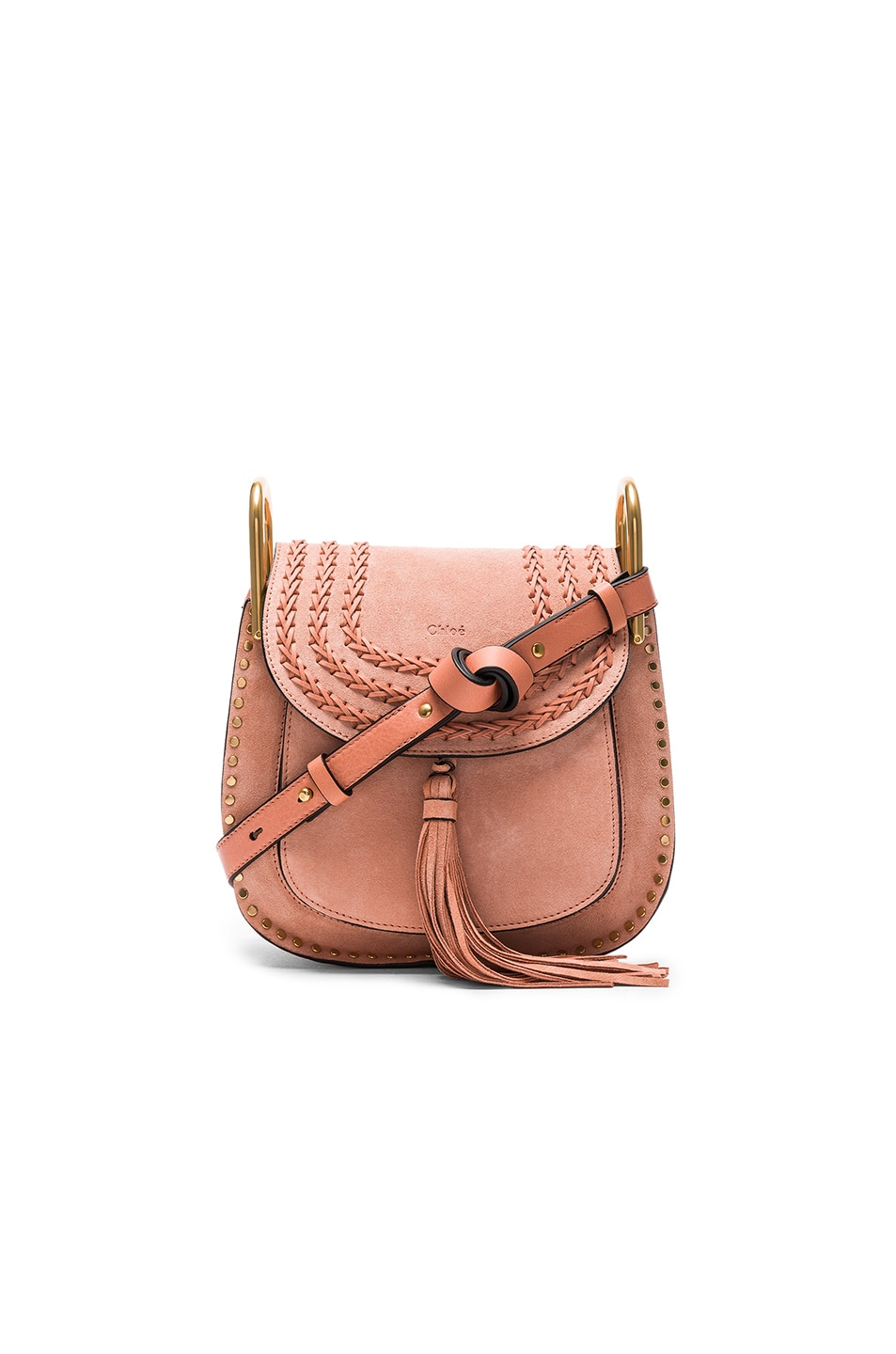 d4a62e2a4ef66 Image 1 of Chloe Small Suede Hudson Bag in Sheer Pink