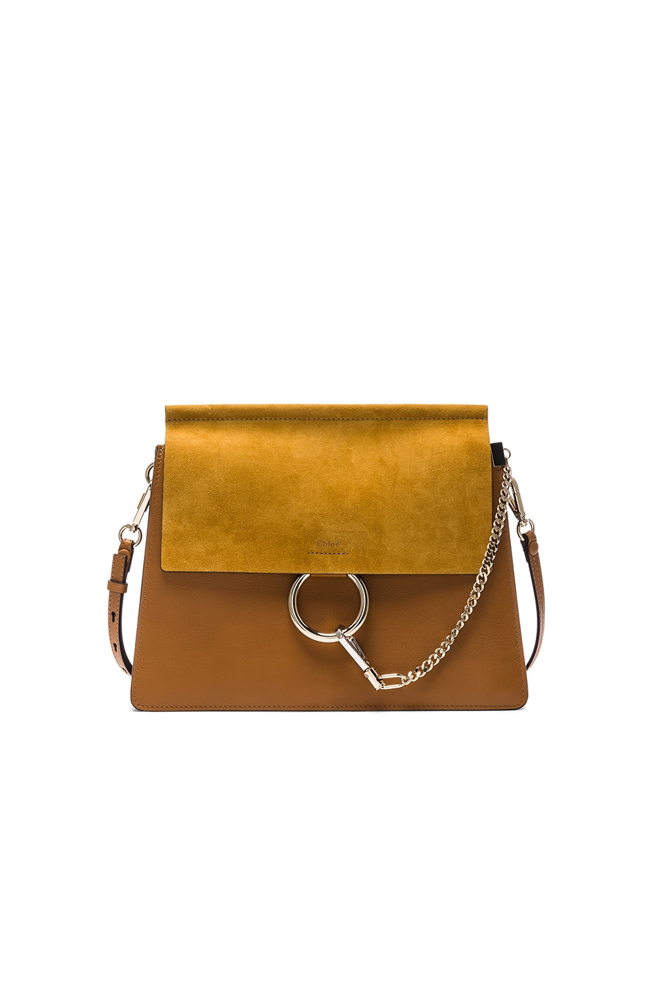 Image 1 of Chloe Medium Leather Faye Bag in Mustard Brown 0a4971d424c47
